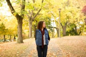 Woman-Walking-in-the-Fall